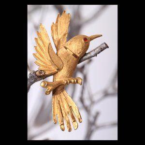 Vintage BSK Bird Brooch